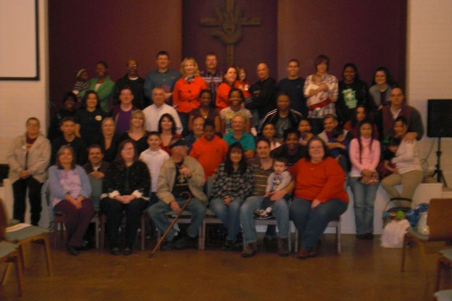 Christmas service at Deaf Church 09