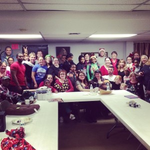 asl christmas party group